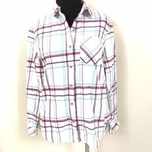 PENDLETON PLAID BUTTON UP TOP SIZE SMALL